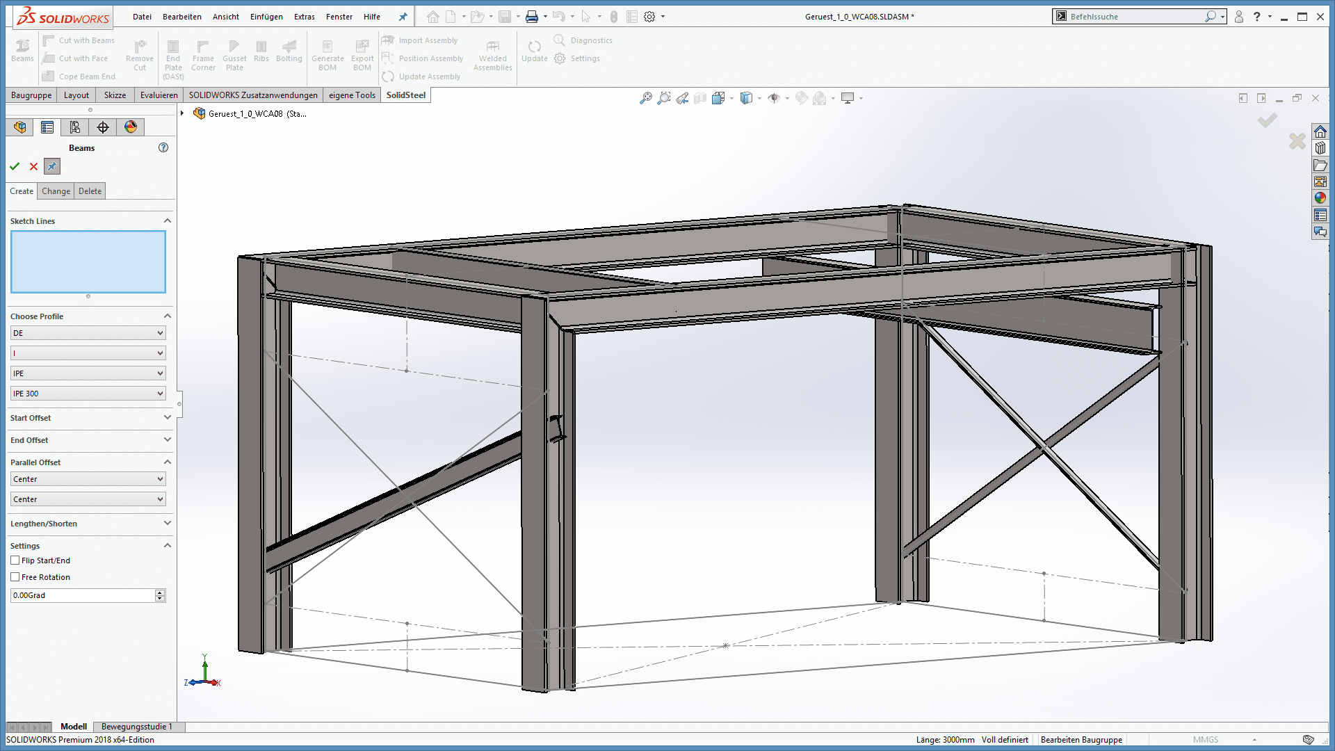 Steelwork with SOLIDWORKS - Simple with SolidSteel parametric ...